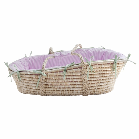 Palm Beach Seersucker Moses Basket