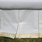 Palm Beach White and Ivory Crib Skirt