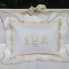 Palm Beach White and Ivory Throw Pillow