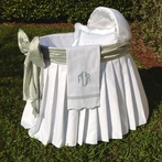 Palm Beach White Pique Bassinet