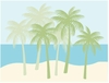 Palm Tree Silhouettes Paint by Number Wall Mural