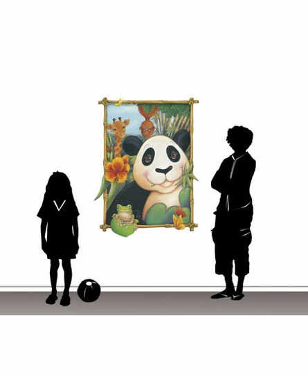 Panda Window Peel and Stick Wall Mural - Large