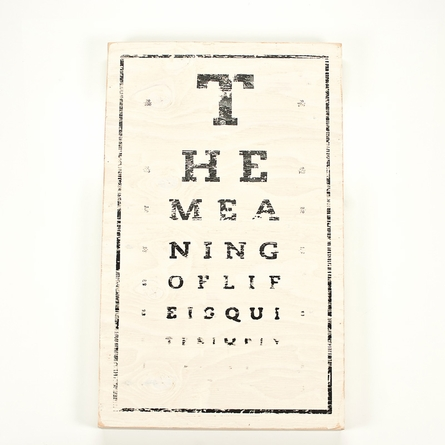 Panel Art Large Wood Board - Eye Chart