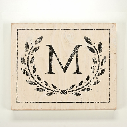 Panel Art Small Wood Board - Monogram