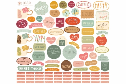 Pantry Labels Fabric Wall Decals