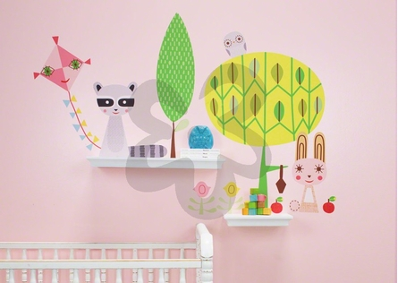Paper Animals and Elements Peel & Place Wall Stickers