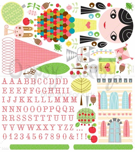 Paper Doll Lisa Peel & Place Wall Stickers