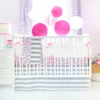 Paper Moon Crib Bedding Set