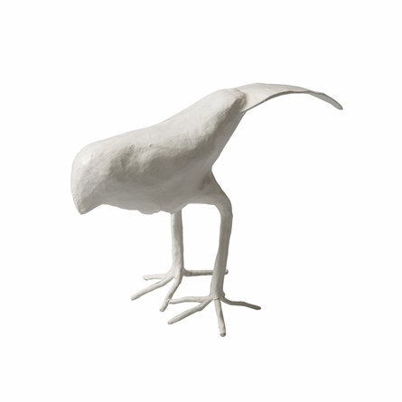 Papier Mache Perching Bird Figurine