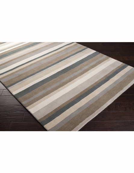 Papyrus Striped Madison Square Rug