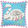 Paradise Swan Throw Pillow