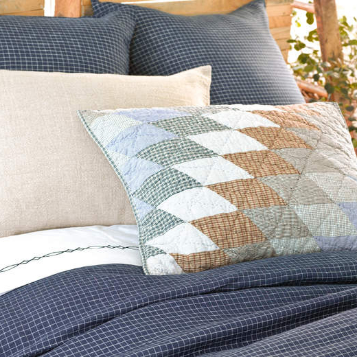 Parchment Linen Checkerboard Ink Duvet Cover By Pine Cone Hill