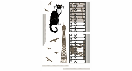 Paris Cat Wall Decals