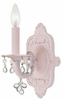 Paris Flea Market Single Sconce in Blush with Clear Crystals