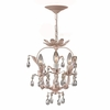 Paris Flea Market Three Light Blush Mini Chandelier