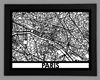 Paris Framed City Map