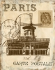 Paris Lithograph Music Hall Canvas Wall Art