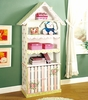 Paris Pink Crackle Bookcase with Cabinet