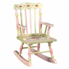 Paris Pink Crackle Finish Rocking Chair