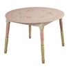 Paris Pink Crackle Finish Table