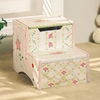 Paris Pink Crackle Stool with Storage