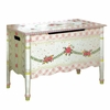 Paris Pink Crackle Toy Chest