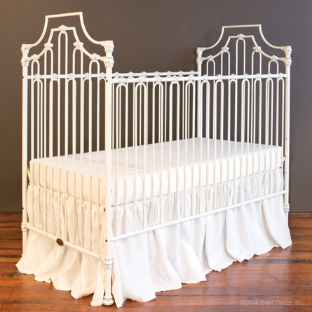Parisian 3 In 1 Convertible Crib Distressed White