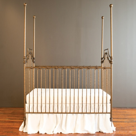 Parisian 3 In 1 Convertible Crib Gold