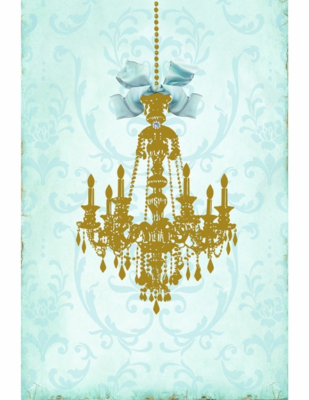 Parisian Chandelier Monogrammed Wall Hanging - Gilded Sarcelle