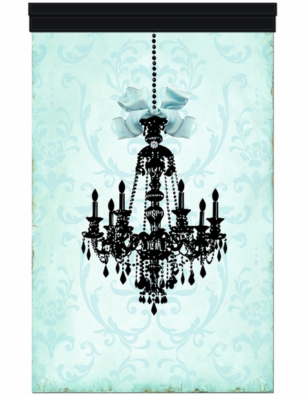 Parisian Chandelier Monogrammed Wall Hanging - Licorice Sarcelle