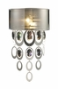 Parisienne Sconce in Silver Leaf Finish