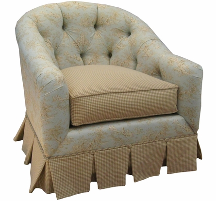 Park Avenue Glider Rocker - Toile Blue