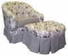 Park Avenue Rocker Glider Chair - Toile Black