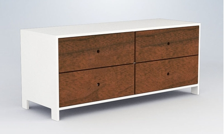 Parker 4-Drawer Low Dresser