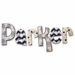 Parker Chevron Elephants Hand Painted Wall Letters