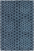 Parson Gray Geo Rug in Blue