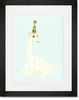 Party Hat Giraffe Framed Art Print