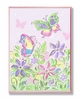 Pastel Butterflies and Flowers Wall Plaque