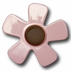 Pastel Daisy Pink with Chocolate Center Drawer Pull