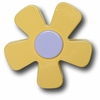 Pastel Daisy Yellow Drawer Pull