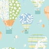 Pastel Hot Air Balloons Wallpaper