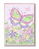 Pastel Large Butterfly and Flowers Wall Plaque