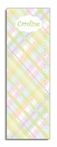 Pastel Madras Personalized Growth Chart