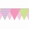 Pastel Patterned Pennant Border