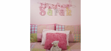 Pastel Patterns Glitter Wall Letters