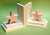 Pastel Pink Star Bookends with White Base