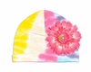 Pastel Tie Dye Hat with Candy Pink Daisy