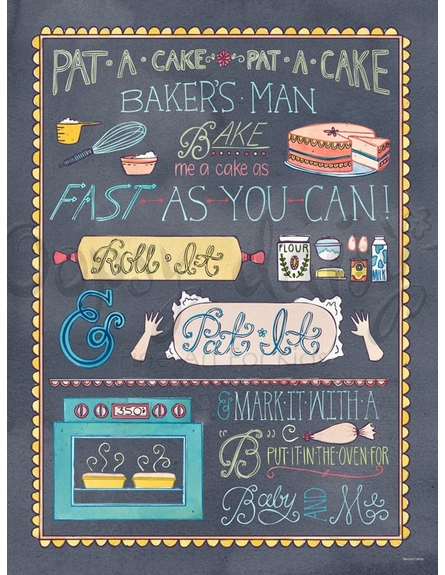 Pat A Cake Canvas Wall Art