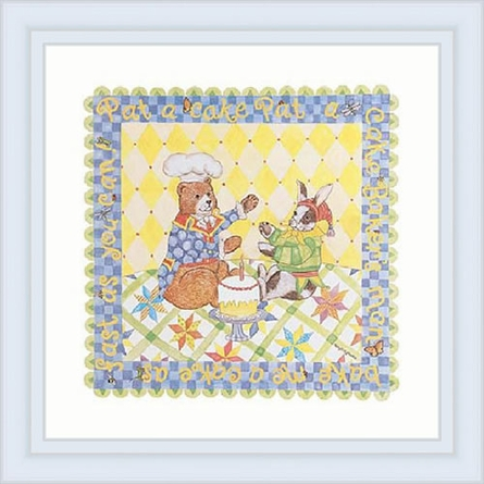 Pat A Cake Framed Lithograph