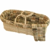Patchwork Plaid Moses Basket Set in Sage